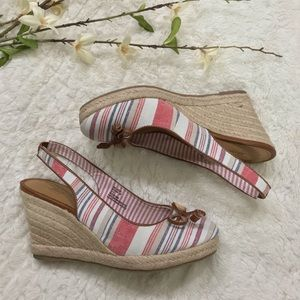 G.H. Bass & Co. Striped Espadrilles Wedges Shoes
